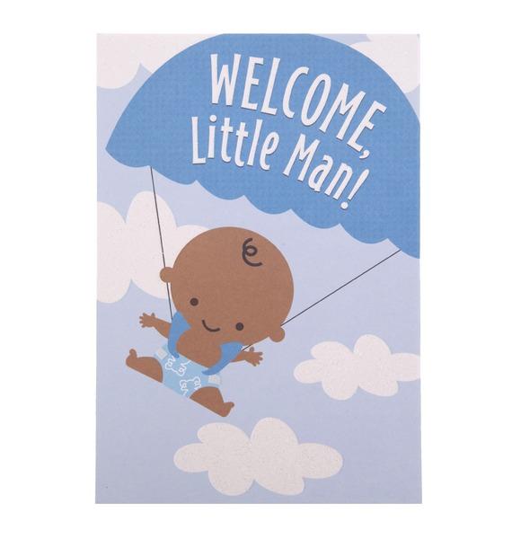 "Открытка ручной работы ""Welcome, little man!"""
