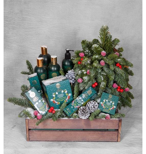 Подарочный набор с елкой Лесная ягода арт дизайн подарочный набор открытка с ручкой самой фееричной тебе