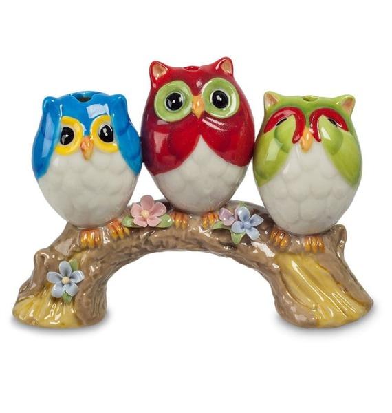 Подставка для зубочисток Три совы (Pavone)