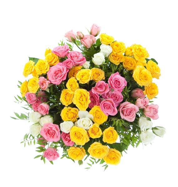 Букет из 15 кустовых роз Пушинка – фото № 3