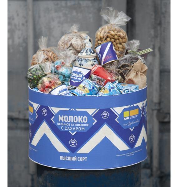 Подарочная коробка Сгущенное молоко коробка подарочная строгая классика 20х10х5 5 см