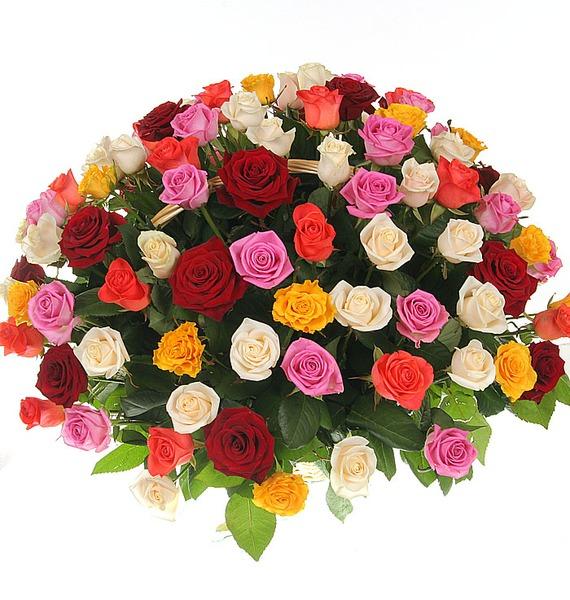 Композиция Праздничный салют (51, 101 или 201 роза) – фото № 1