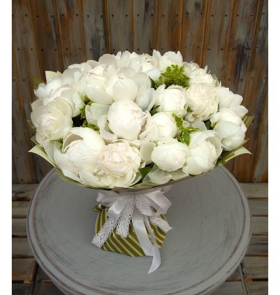 """Букет-соло пионов """"Duchesse de Nemours"""" (15,25,35,51 или 75) картина прекрасный букет нежных розовых пионов 14 5 х 22 см"""