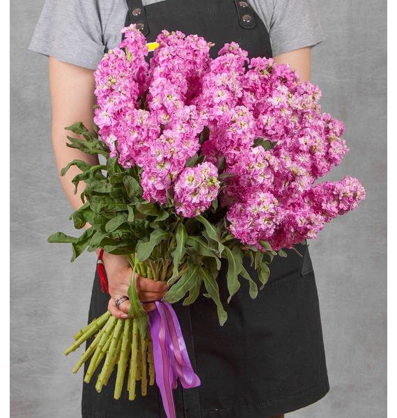 Букет розовой маттиолы (15, 25 или 51) цена