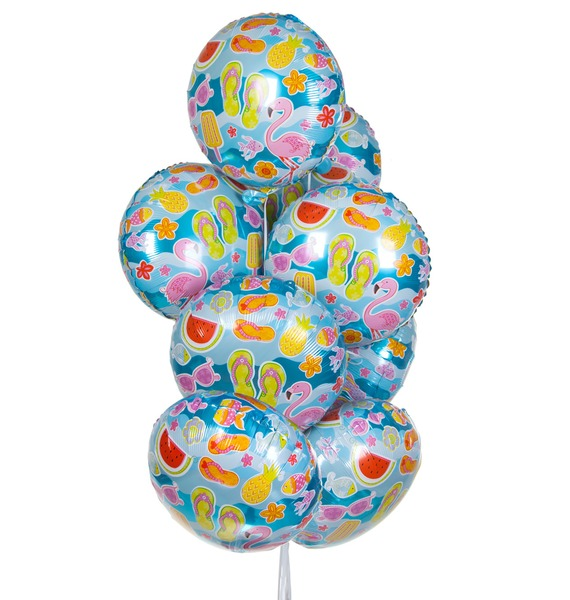"""Букет шаров """"Лето у моря"""" (9 или 18 шаров) стоимость"""