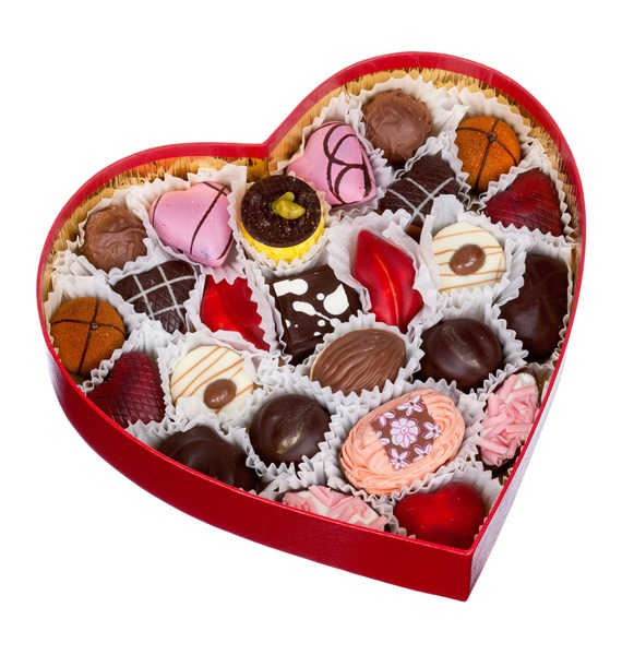 """Конфеты ручной работы из бельгийского шоколада """" сердце"""""""
