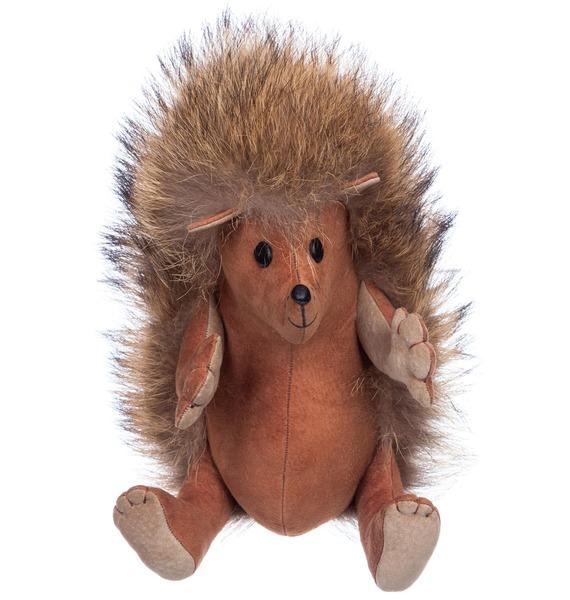 Игрушка из натурального меха Ёжик Веня рюкзак заяц из натурального меха