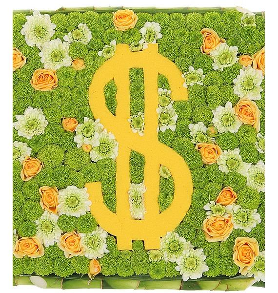 """Цветочная композиция """"Счастливый доллар"""" цветочная композиция"""