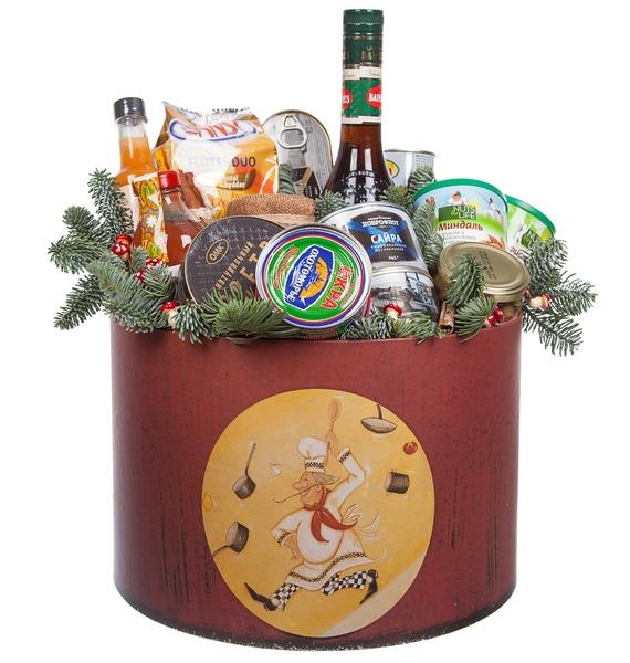 Подарочная коробка Новогодняя суета (Ликёр в подарок) – фото № 4