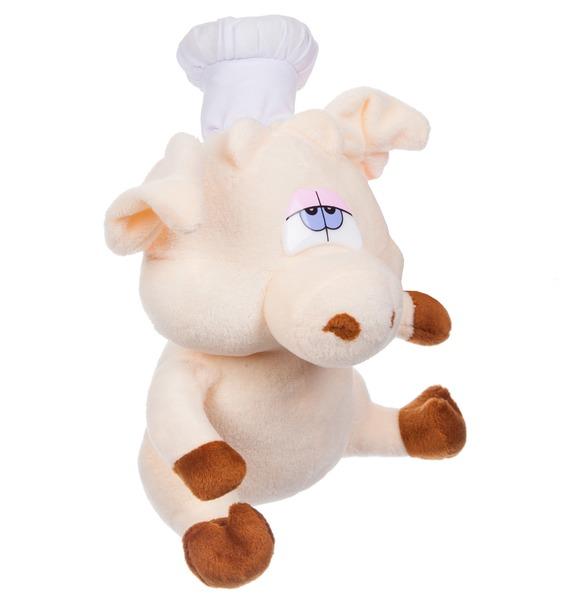 Мягкая игрушка Поросёнок Повар (19 см) – фото № 3