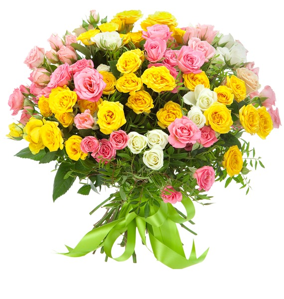 Букет из кустовых роз Иллюзия фоторамка букет роз на 2 фотографии