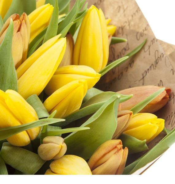 Букет из 51 тюльпана Краски весны – фото № 3
