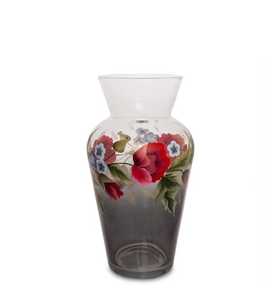 Ваза стеклянная Мак полевой ваза с рельефом 30 см 19118230 0157 rudolf kampf
