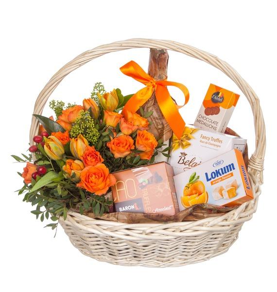 Подарочная корзина Оранжевый мир (Игристое вино в подарок) – фото № 5