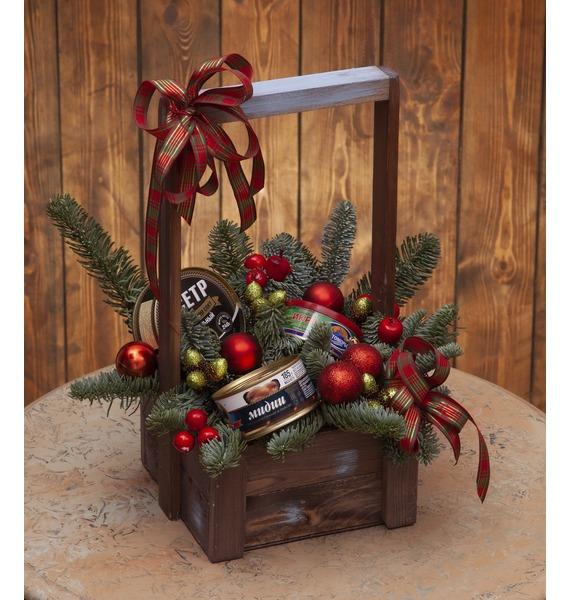 Подарочное кашпо Подарок зимы