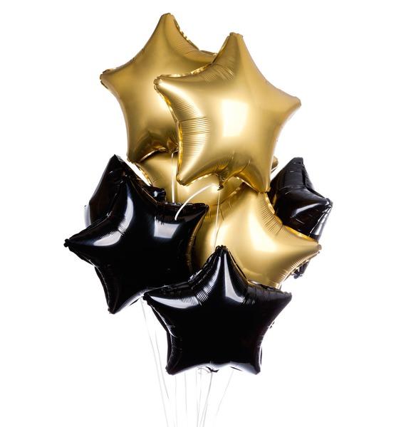 Букет из 9 шаров Звездная ночь композиция из шаров букет