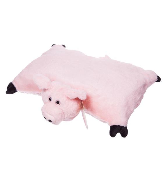 Мягкая игрушка-подушка Розовая Ховронья – фото № 4