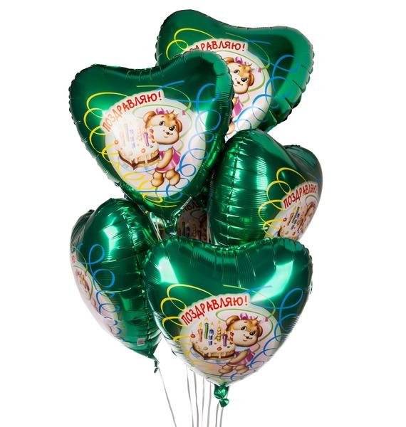 Букет шаров Поздравляю (7 или 15 шаров) букет шаров сладкий пончик 5 или 9 шаров