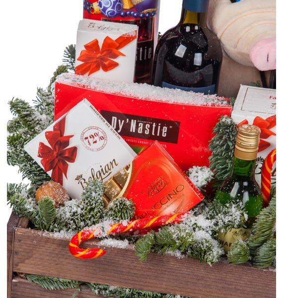 Подарочное кашпо Год Хрюшки (Вино в подарок) – фото № 2