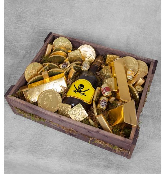 Подарочное кашпо Сокровище пиратов (Бренди в подарок) – фото № 1