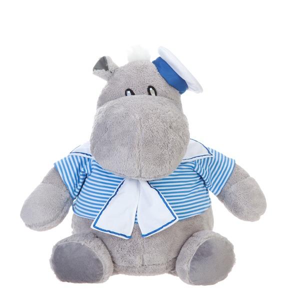 """Мягкая игрушка """"Бегемот-моряк"""" (45 см)"""