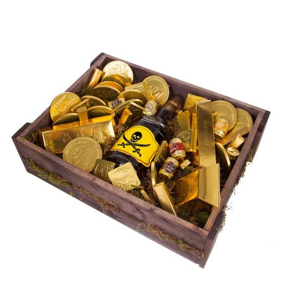 Подарочное кашпо Сокровище пиратов (Бренди в подарок) – фото № 5