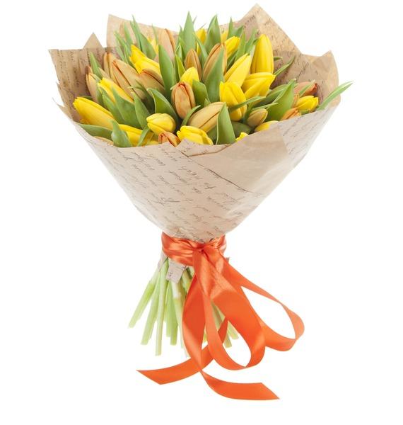 Букет из 51 тюльпана Краски весны – фото № 2