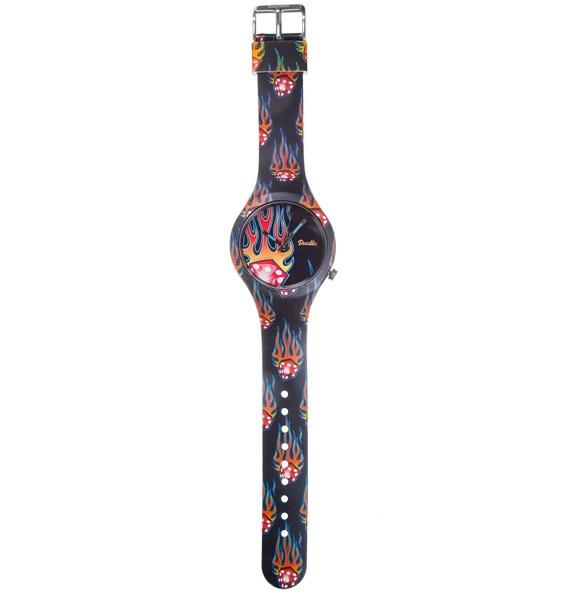 Часы Doodle Пламя – фото № 3