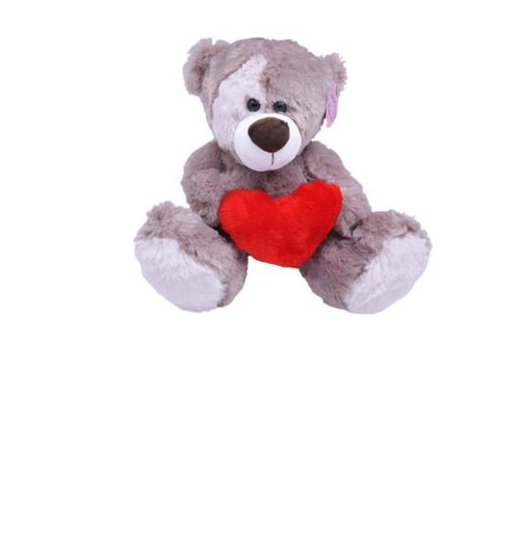 Мягкая игрушка Мишка Зиновий с сердцем (28 см.) мягкая игрушка олень chl 500dr 28 см