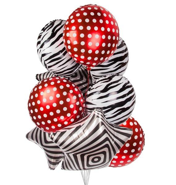 Букет шаров Орнаменты (9 или 18 шаров) букет шаров россия 9 или 18 шаров