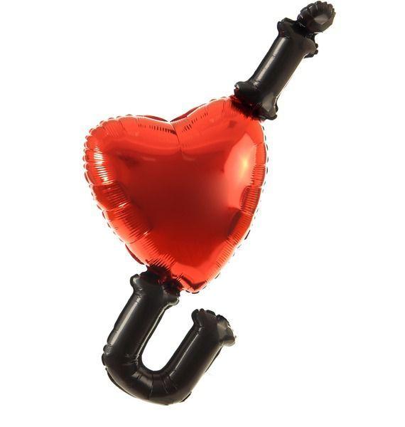 Фото - Воздушный шар Сердце шарик воздушный сердце цвет вишневый 50 шт