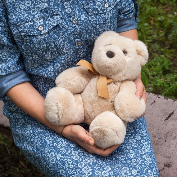 Игрушка из натурального меха Медведь цена