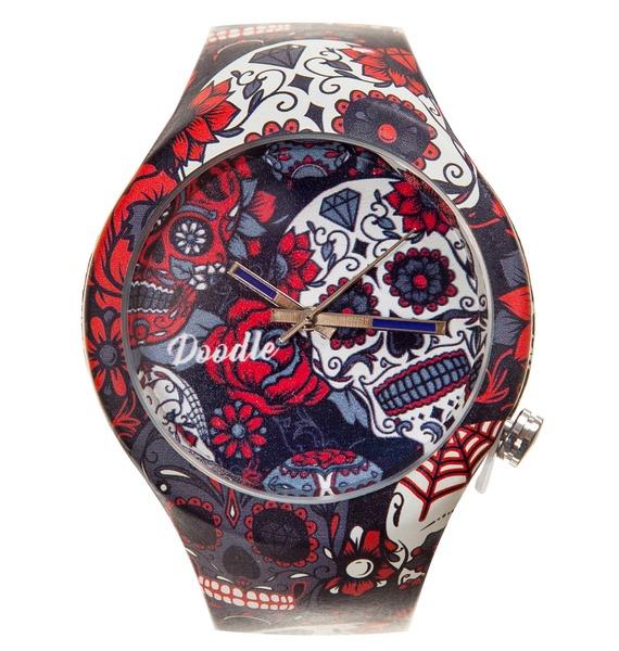 Часы Doodle Серый череп часы doodle белый череп