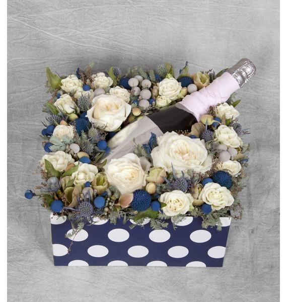 Подарочная коробка Хорошее настроение (Игристое вино в подарок) – фото № 1