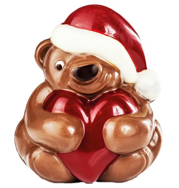 Шоколадная фигрука Мишка с сердцем – фото № 2