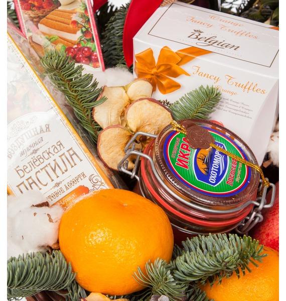 Подарочная корзина Звон бокалов (Игристое вино и коньяк в подарок) – фото № 3