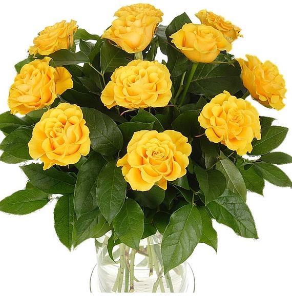 Букет из 11 желтых роз Предчувствие счастья 5 11