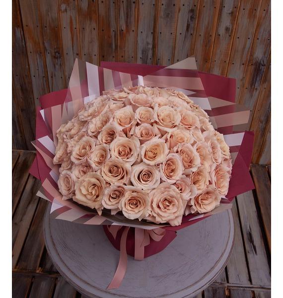 """Букет-соло пионовидных роз """"Quicksand"""" (15,25,35,51 или 75)"""