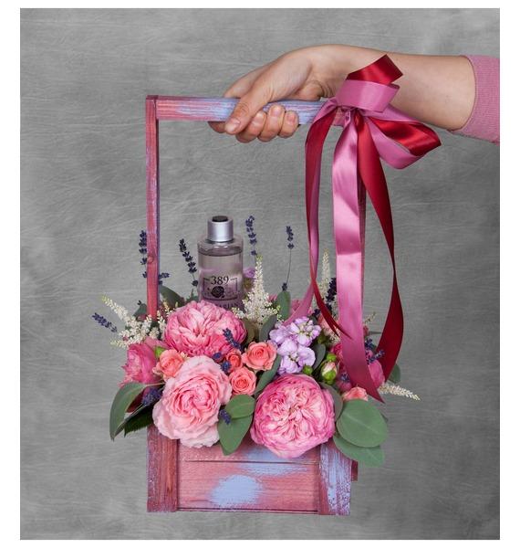 Композиция Розовый сад покрывало розовый сад