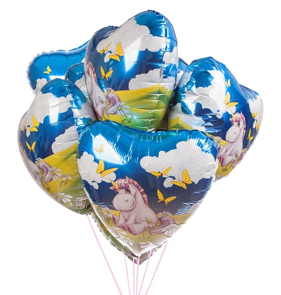 Букет шаров Единорог (7 или 15 шаров)