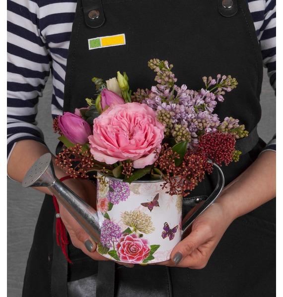 Композиция Цветущий сад бумага для скрапбукинга 30 5х30 5 см 190 гр м двуст счастливый день цветущий сад