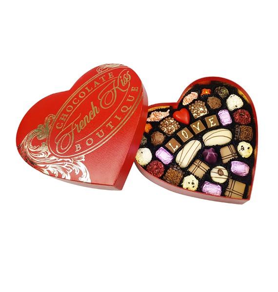 Конфеты ручной работы из бельгийского шоколада Красивая любовь merci набор конфет ассорти из шоколада с миндалем 250 г