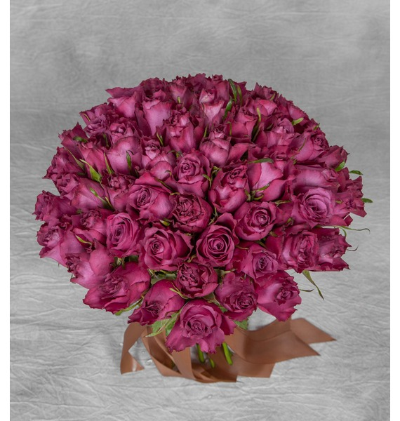 Букет из роз Blueberry (25,51 или 101 роза) – фото № 1