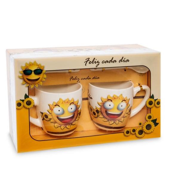 Фото - Набор из 2-х кружек в подарочной коробке regalissimi набор из 2 х металлизированых бантов цветков малых