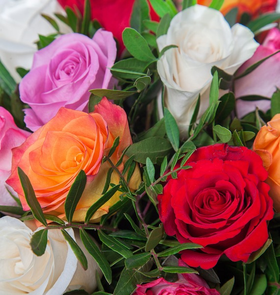 Букет Радуга (51 или 101 роза) – фото № 3