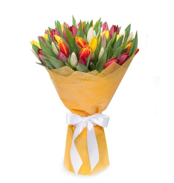 Букет из тюльпанов Понравится всем (31 или 51) – фото № 5