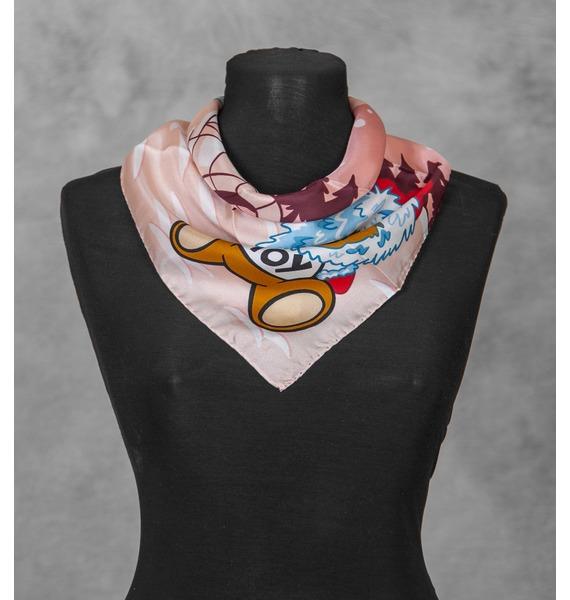 Шелковый платок MOSCHINO Зима (Италия, 50х50 см) – фото № 1