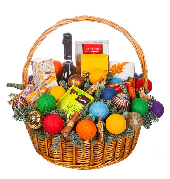Подарочная корзина Радуга вкуса (Игристое вино в подарок) – фото № 5