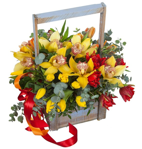 Композиция Бал орхидей elm 02 композиция из роз и орхидей