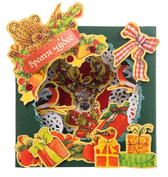 Открытка ручной работы Время чудес 3D открытка ручной работы роза